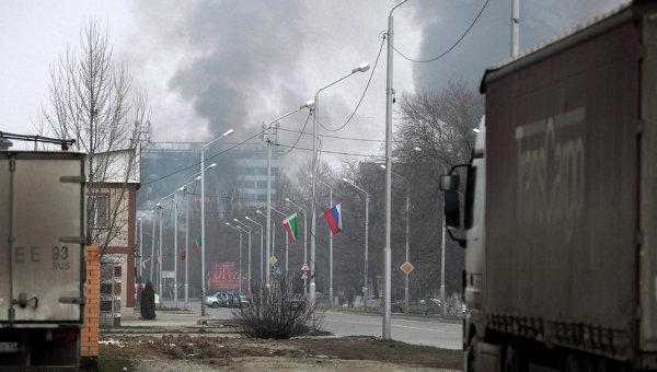 Дом печати в Грозном, где проходила спецоперация