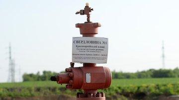 Скважина по добыче сланцевого газа в поселке Желанное Донецкой области