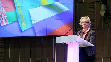Министр по основным направлениям интеграции и макроэкономике Евразийской экономической комиссии Татьяна Валовая. Архивное фото