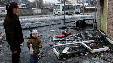 Станция технического обслуживания автомобилей, сгоревшая в результате обстрела украинскими силовиками Донецка. Архивное фото