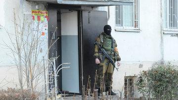 Сотрудник спецподразделения МВД в Нальчик. Архивное фото
