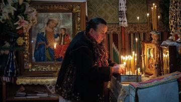 Празднование Рождества в селе Криворивня на Украине