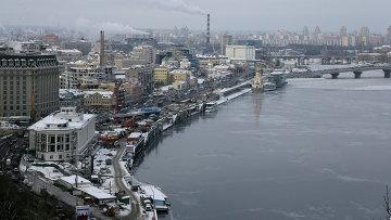 Вид на правый берег Днепра в Киеве. Архивное фото