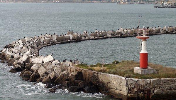 Вид на бухту в Крыму, Архивное фото