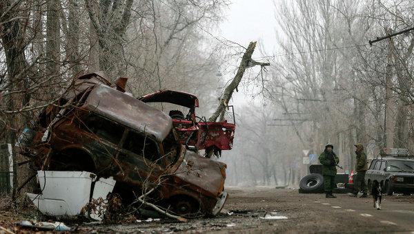 Последствия боев в районе Донецкого аэропорта