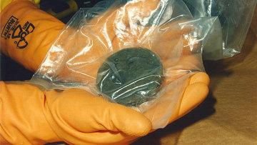 Плутоний в пакете. Архивное фото