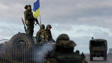 Солдаты украинской армии. Донецкая область. Архивное фото