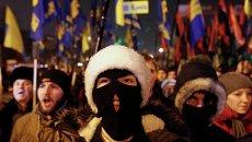 Факельное шествие националистов в Киеве 1 января 2015 года