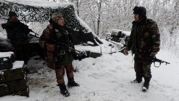 Бойцы украинского добровольческого батальона в Донбассе. Архивное фото