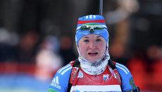 Российская биатлонистка Ирина Трусова. Архивное фото