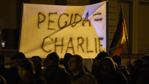 Антиисламские акции протеста в Дрездене