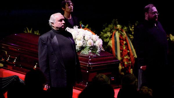 Церемония прощания с оперной певицей Еленой Образцовой на исторической сцене Большого театра