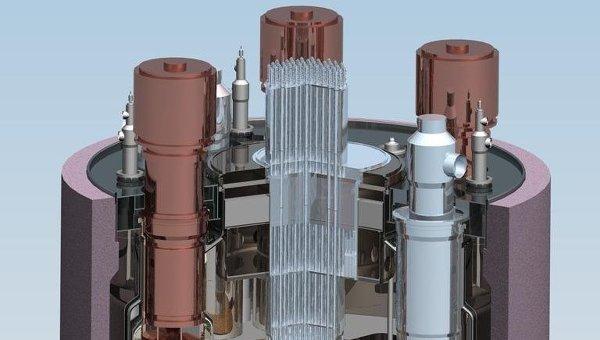 Схема атомного реактора на быстрых нейтронах БН-1200