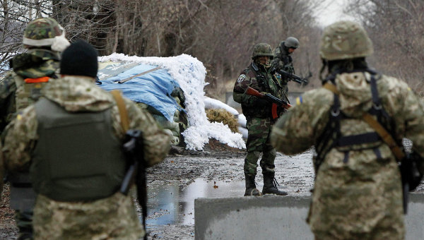 Украинские военнослужащие возле Донецка, Архивное фото