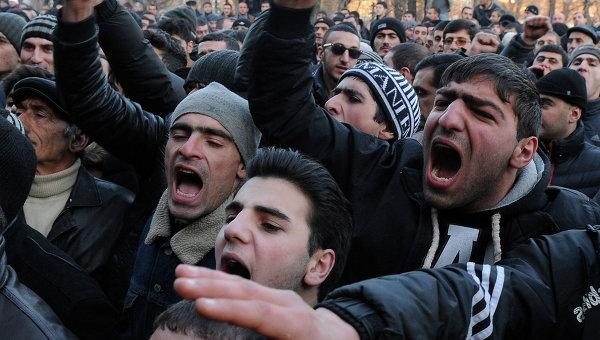 Протесты в городе Гюмри, Армения
