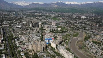 Вид на Душанбе, Таджикистан. Архивное фото