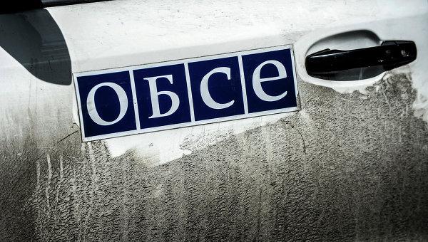 Автомобиль миссии ОБСЕ в Донецкой области. Архивное фото