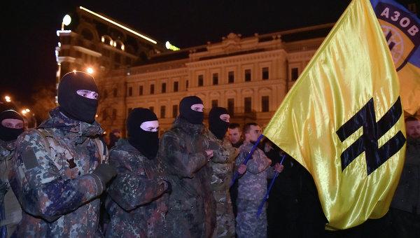 Бойцы добровольческого батальона Азов. Архивное фото