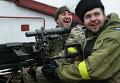 Украинские военнослужащие на боевой позиции возле села Чермалык Мариупольской области