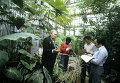 Занятие с аспирантами в главном Ботаническом саду АН СССР проводит профессор Г.В. Устименко-Бакумовский