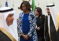 Первая леди США Мишель Обама и король Саудовской Аравии Салман бен Абдель Азиз аль-Сауд. 27 января 2015
