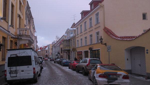Улочки зимнего Таллина, архивное фото