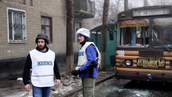 Сотрудники ОБСЕ на Украине, архивное фото