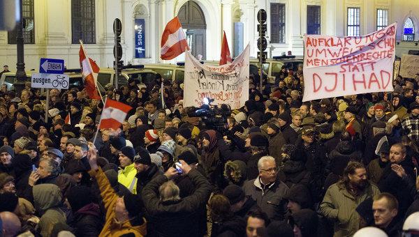 Акция Pegida в Вене