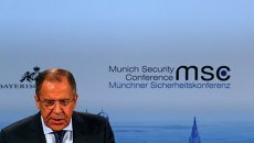 Глава МИД России Сергей Лавров на Мюнхенской конференции 7 февраля 2015 года. Архивное фото