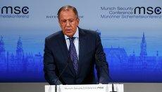 Глава МИД России Сергей Лавров на Мюнхенской конференции 7 февраля 2015 года