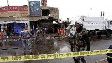 На месте взрыва в Багдаде, 7 февраля 2015