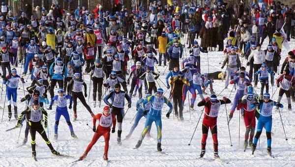 Всероссийская массовая лыжная гонка Лыжня России. Архивное фото