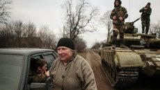 Местные жители возвращаются в свои дома, после освобождения Углегорска от украинских силовиков