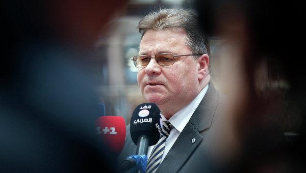 Глава МИД Литвы Линас Линкявичюс