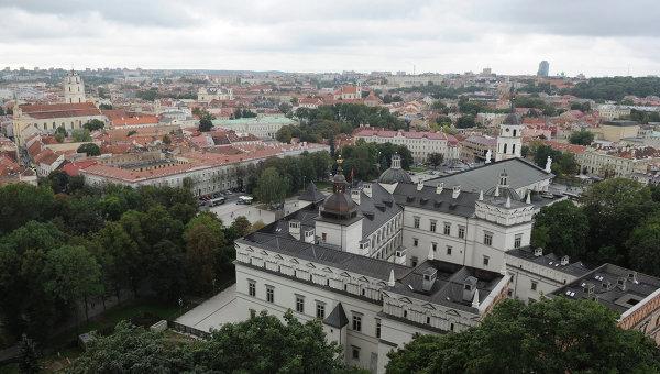 Вид на Вильнюс с башни Гедиминаса. Архивное фото