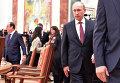 Президент России Владимир Путин на переговорах в Минске