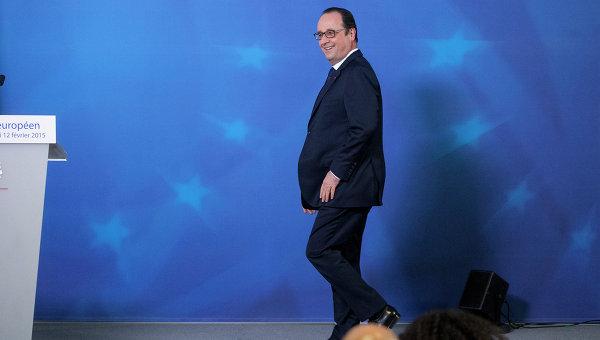 Президент Франции Франсуа Олланд на саммите ЕС в Брюсселе