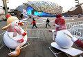 """Национальный стадион """"Птичье гнездо"""" в Пекине, Китай"""