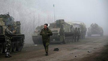 Украинские силовики в районе Дебальцево, 15 февраля 2015