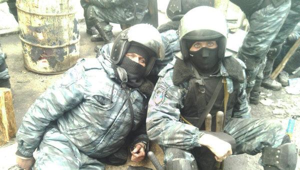 Бывшие бойцы Беркута Александр Попов и Сергей Хайрульский