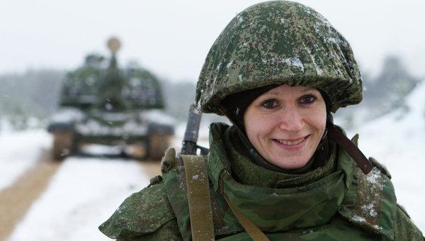 Военнослужащая. Архивное фото