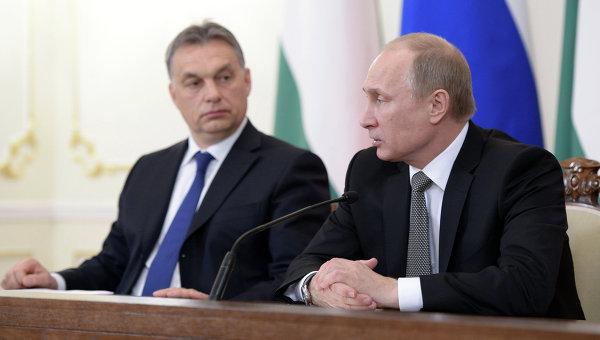 Президент РФ Владимир Путин и премьер-министр Венгерской Республики Виктор Орбан. Архивное фото