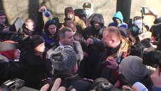 Евромайдановцы угрожали сотруднику прокуратуры на акции протеста в Одессе