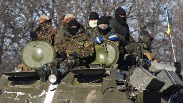 Украинские военные в районе Дебальцево. Архивное фото