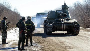 Вывод войск украинской армии из Дебальцево. Архивное фото
