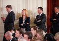 Официальный представитель Государственного департамента США Дженнифер Псаки с коллегами. 2011 год