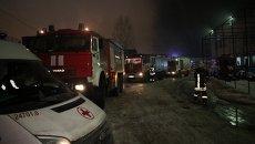 Пожар в ангаре в Санкт-Петербурге