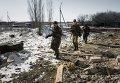 Ополченцы Донецкой народной республики в окрестностях Дебальцево Донецкой области