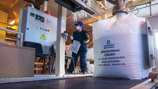 Производство фосфорно-калийных удобрений на предприятии компании Фосагро. Архивное фото