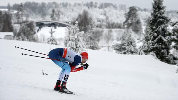 Никита Крюков на этапе Кубка мира по лыжным гонкам. Архивное фото
